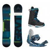 komplet Gravity Adventure 17/18 + vázání Gravity G1 blue + boty Gravity Recon