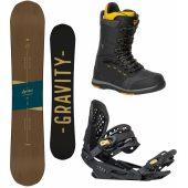 komplet Gravity Symbol 17/18 + vázání Gravity G3 black/gold + boty Gravity Manual black/yellow