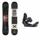 set Gravity Silent 17/18 + vázání Gravity G3 black/gold + DÁREK dle VÝBĚRU