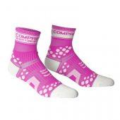 COMPRESSPORT ponožky V2 PRO RACING běžecké zářivě růžové