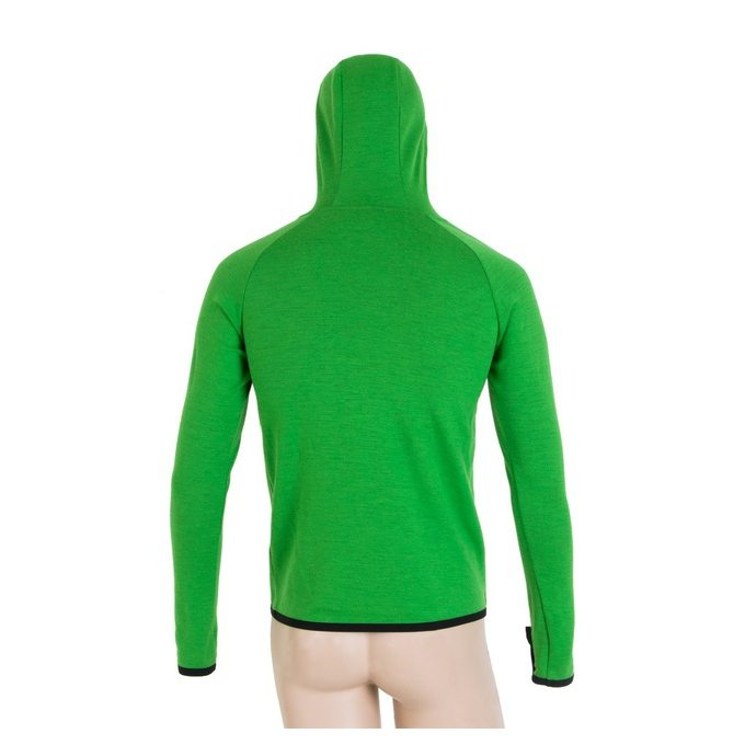 SENSOR MERINO UPPER HORY pánská mikina klokanka zelená  2ce4b7f62a