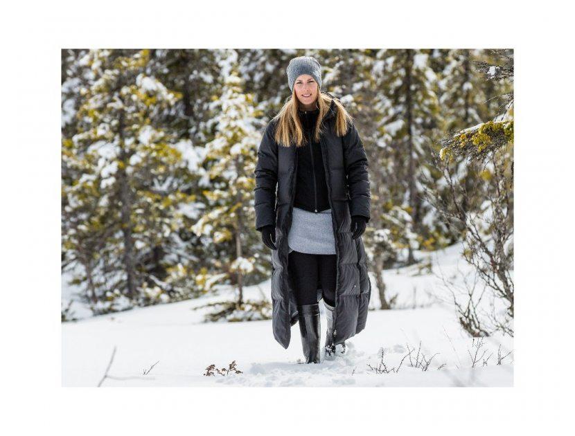 SKHOOP péřový kabát HELLA DOWN černý  cc6a4eae383