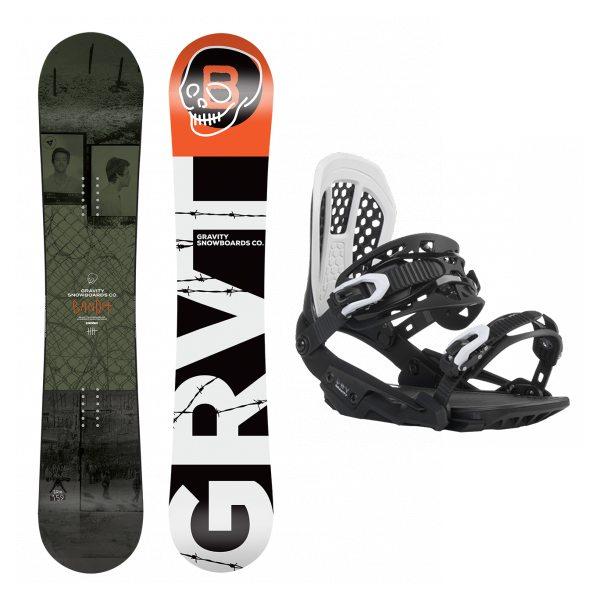set Gravity Bandit 18 19 + vázání Gravity G3 black white  220d91eee8