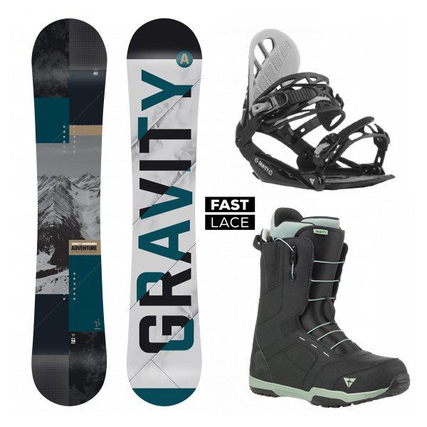 96cf217c53 komplet Gravity Adventure 18 19 + vázání Gravity G1 black + boty ...