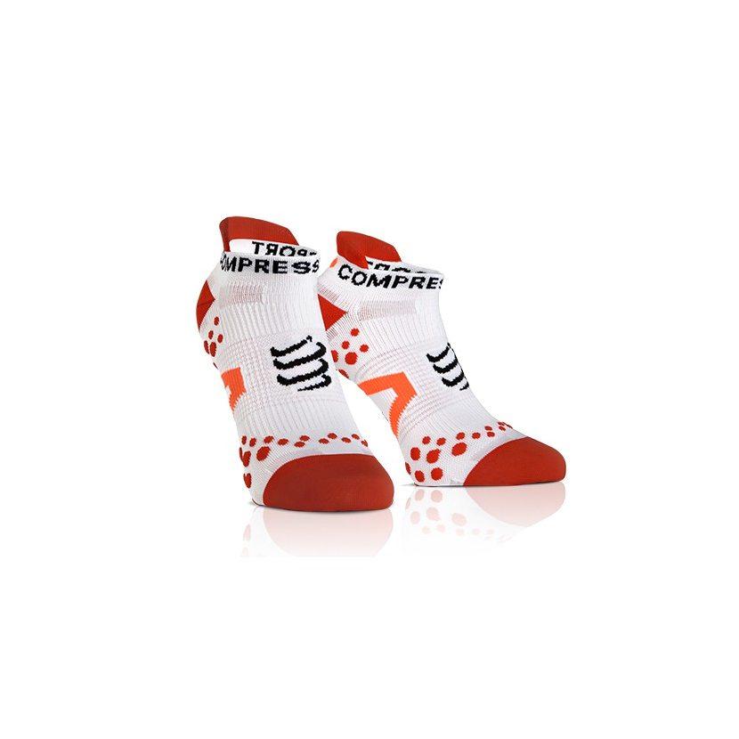 COMPRESSPORT ponožky V2.1 PRO RACING běžecké nízké bílo-červené ... 027d0a89bf