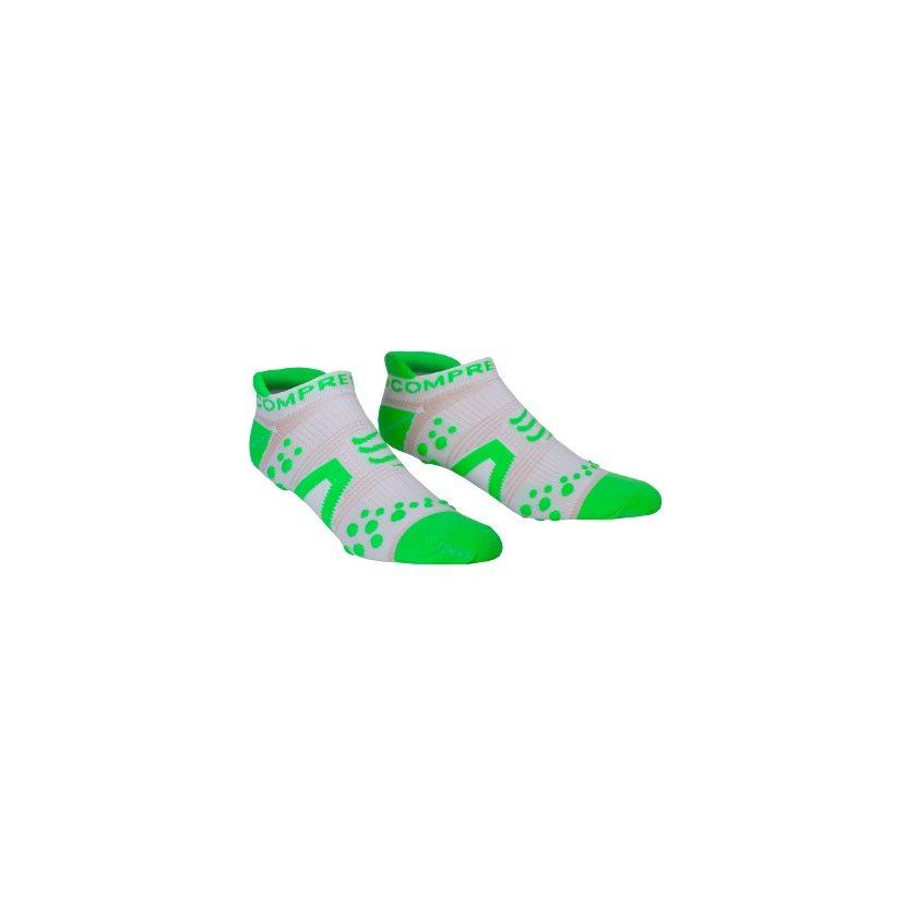 COMPRESSPORT ponožky V2 PRO RACING běžecké nízké bílo-zelené zobrazit větší  obrázek dd558669fe