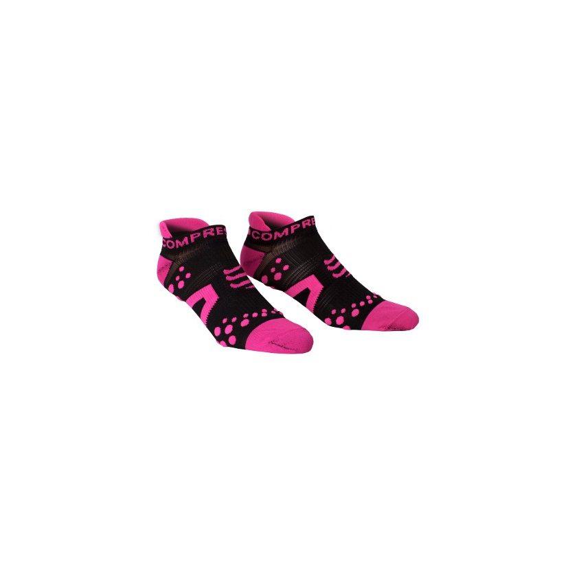 COMPRESSPORT ponožky V2 PRO RACING běžecké nízké černo-růžové zobrazit  větší obrázek 944b134725
