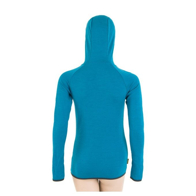 ... SENSOR MERINO UPPER FEATHER dámská mikina klokanka modrá 1c7aba0f3c